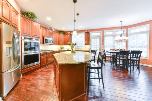 Ashburn island kitchen renovation