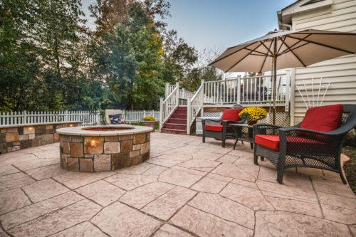 Ashburn outdoor space patio firepit
