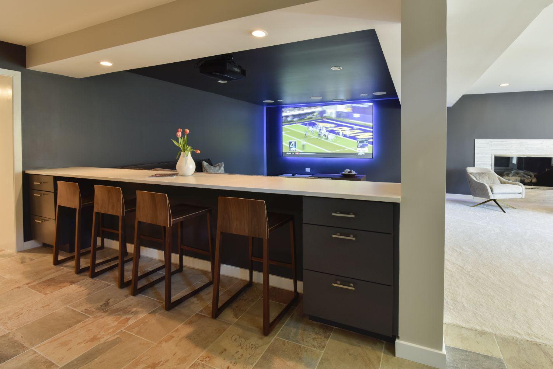 Great Falls custom bar home entertainment renovation
