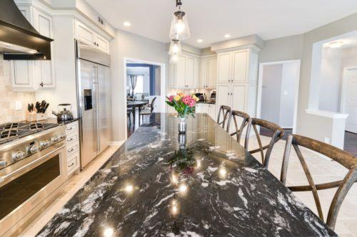 Leesburg transitional kitchen remodel marble custom design