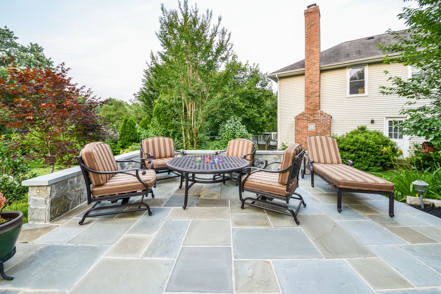 sterling custom stone patio outdoor space
