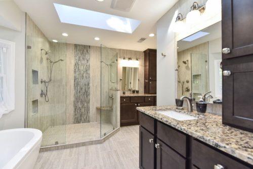 master bath remodel custom flooring tile